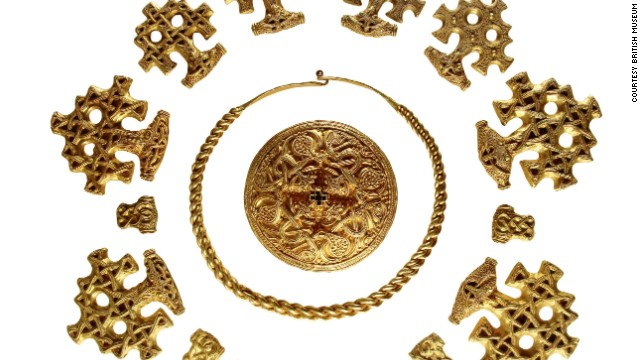 Vikings also enjoyed the finer things in life -- like ostentatious jewelery. These elegant decorative pieces were probably made in Denmark in the late 10th century.