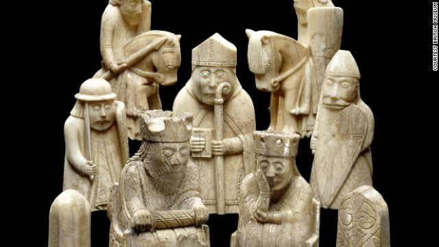 These delicate chess pieces give an insight into a more thoughtful Viking, rather than the stereotypical image of barbaric warrior.