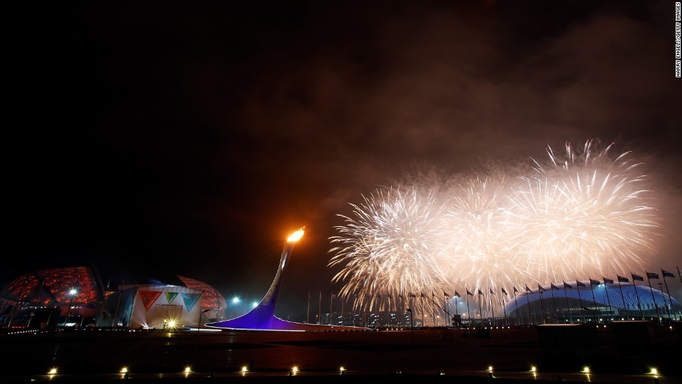 Fireworks explode over Fisht Olympic Stadium on Friday, March 7, at the end of the opening ceremony for the Winter Paralympic Games. The Paralympics are in Sochi, Russia, like the recently completed Winter Olympic Games.