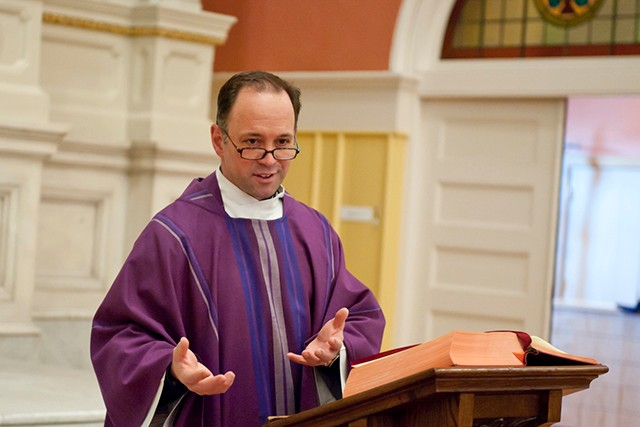 The Rev. John Unni says he often quotes Pope Francis in his homilies.