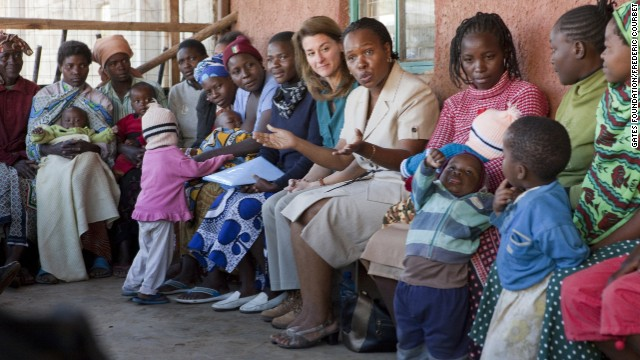 Melinda French Gates meets with the Korogocho Mothers' Group in Nairobi, Kenya, in January, 2011.