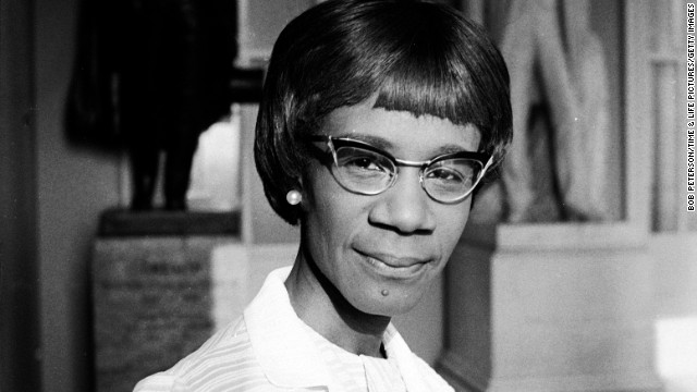 U.S. Rep. Shirley Chisholm of New York was the <a href='http://www.pbs.org/pov/chisholm/film_description.php' target='_blank'>first black woman to be elected to Congress</a> and run for the presidency.