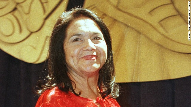 Hispanic Heritage Award winner <a href='http://www.makers.com/dolores-huerta' target='_blank'>Dolores Huerta</a> has fought to improve working conditions for farm workers. The Presidential Medal of Freedom honoree co-founded the organization that would become United Farm Workers in 1962.