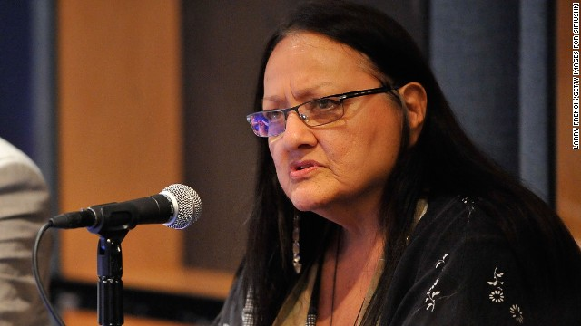 Suzan Shown Harjo is an <a href='http://www.theguardian.com/commentisfree/2013/jan/17/washington-redskins-racism-pro-football' target='_blank'>advocate for Native American rights</a> who has been a leader in the effort to <a href='http://www.nytimes.com/2013/10/10/sports/football/redskins-name-change-remains-her-unfinished-business.html?_r=0' target='_blank'>remove derogatory names from sports teams</a>, including Washington Redskins football team.