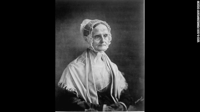 Lucretia Mott was a Quaker abolitionist who<a href='http://www.nps.gov/wori/historyculture/lucretia-mott.htm' target='_blank'> founded the Philadelphia Female Anti-Slavery Society in 1833</a> after she was excluded from some all-male abolitionist meetings. She later became the first president of the American Equal Rights Association,<strong> </strong>whose mission was to grant equality for blacks and women.