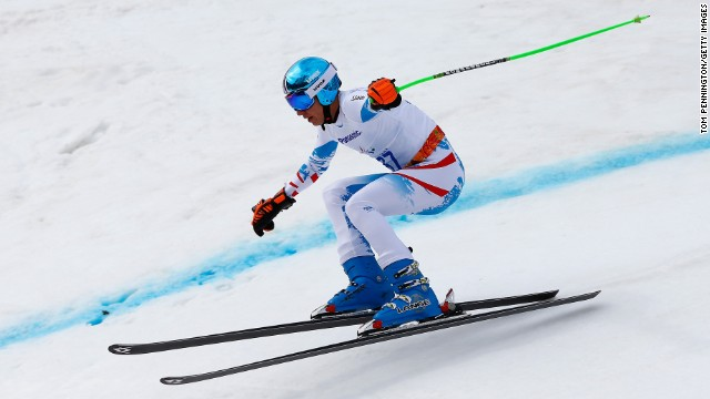 Austrian skier Markus Salcher won gold in the super-G on March 9.