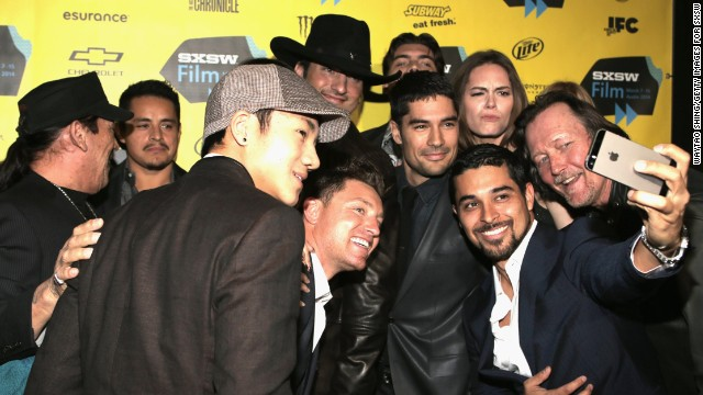 "Cast members of ""From Dusk Till Dawn: The Series"" grab a selfie on March 8."