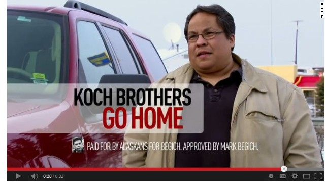 Koch Brothers targeted in new Senate ad