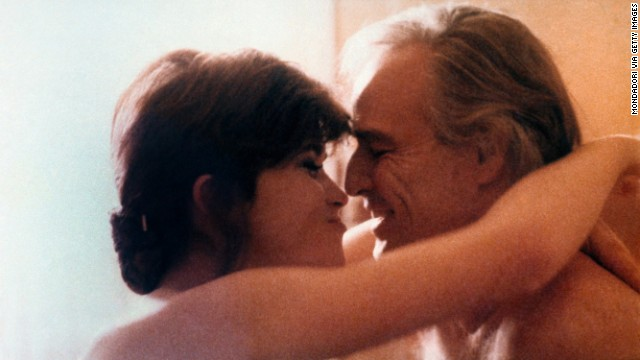 Maria Schneider and Marlon Brando in
