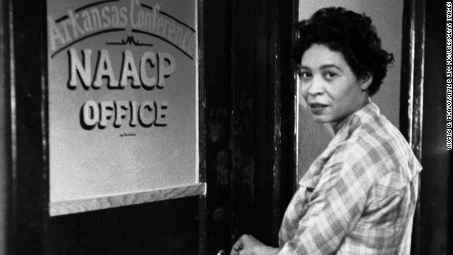 "Civil rights leader and NAACP official <a href='http://www.pbs.org/independentlens/daisy-bates/' target='_blank'>Daisy Bates</a> was a central leader during the ""Little Rock Nine"" case, which sought to integrate the all-white Central High School with nine black students."