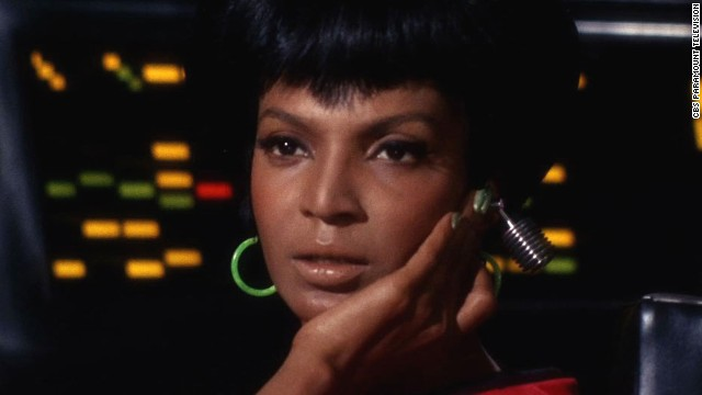 "Zoe Saldana has been playing her in the movies of late, but we have to harken back to Nichelle Nichols (pictured) as the original communications officer on the Starship Enterprise in the original ""Star Trek"" TV series."