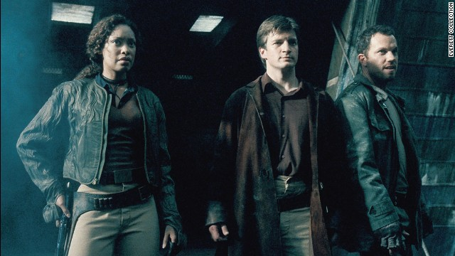 "Joss Whedon's ""Firefly"" went off the air years ago, but it remains a cult favorite -- in part because of a multiracial cast that also featured women in kick-butt roles. Here, Gina Torres, Nathan Fillion and Adam Baldwin get ready to do battle.<!-- --> </br>"