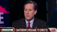 Santorum questions Christie's sincerity