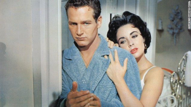 """Paul Newman and Elizabeth Taylor starred in """"Cat on a Hot Tin Roof"""" in 1958."""
