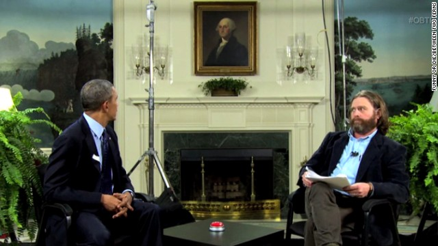 "President Barack Obama appeared with comedian Zach Galifianakis for the ""Funny or Die"" online show ""Between Two Ferns"" to push young adults to sign up for Obamacare. The President has an uneven record on delivering one-liners. Click through the images to see him as comedian in chief."