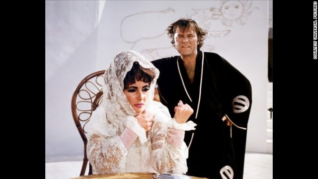 """Elizabeth Taylor and Richard Burton starred in """"Boom!"""" in 1968. It was based on Tennessee Williams' play, """"The Milk Train Doesn't Stop Here Anymore."""""""