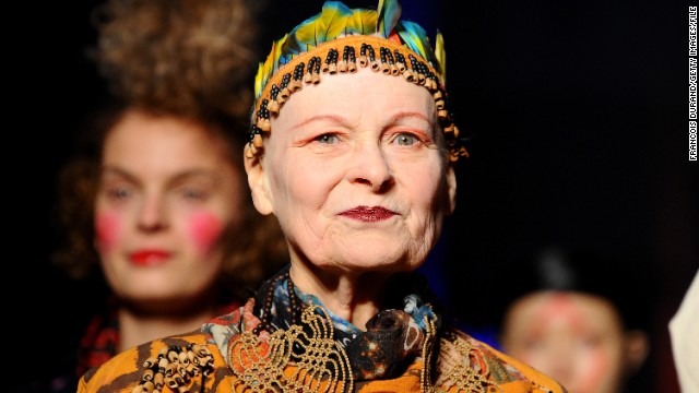 British fashion designer Vivienne Westwood has shaved off her trademark fiery red hair -- not for style, but to draw attention to climate change.