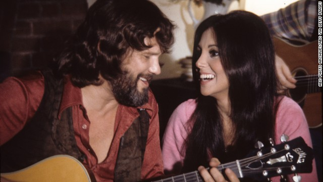 "Kris Kristofferson was among the stars to lend his voice to ""Free to Be... You and Me."" Others included Alan Alda, Carol Channing, Shirley Jones and Mel Brooks. Kristofferson is shown with actress Marlo Thomas, who created ""Free to Be... You and Me."""