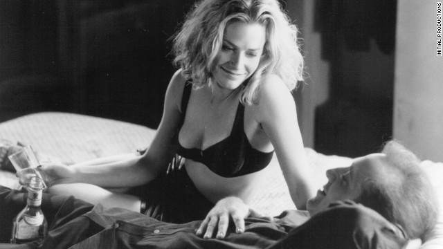 """Elisabeth Shue tries desperately to get Nicolas Cage to stop drinking in """"Leaving Las Vegas"""" from 1995. Cage won an Oscar for his performance as a suicidal screenwriter who, in one arresting scene, fills a shopping cart with booze."""
