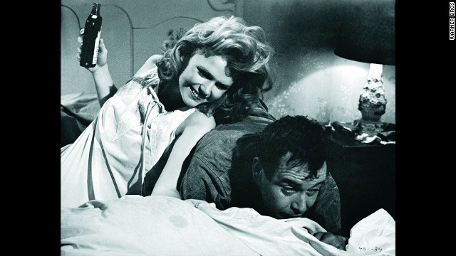 "The 1962 movie ""Days of Wine and Roses,"" about two alcoholics, stars Lee Remick and Jack Lemmon."