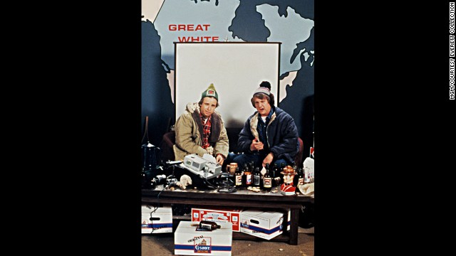 """Rick Moranis and Dave Thomas play a couple of Canadians who land jobs in a brewery in the 1983 film """"The Adventures of Bob & Doug McKenzie: Strange Brew."""""""