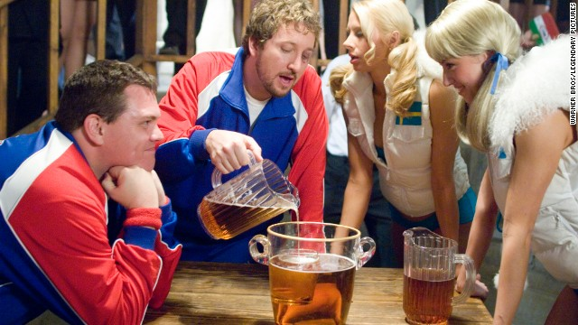 "Two brothers head for Oktoberfest in the 2006 film ""Beerfest,"" which includes Kevin Heffernan, Paul Soter, Simona Fusco and Jessica Williams."
