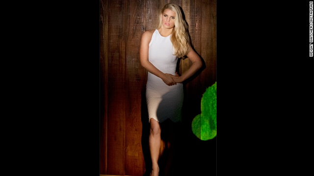 "Jessica Simpson announced on Instagram in March that she has reached her goal weight after giving birth to son Ace in June 2013. ""First time rocking a white dress this year ... but not the last!!Thanks @weightwatchers!"" the paid spokeswoman <a href='https://twitter.com/JessicaSimpson/status/441742983767937025' target='_blank'>tweeted</a>. Like many women, Simpson has found her weight fluctuating over the years; unlike most women, she's had to deal with public criticism about her curves."