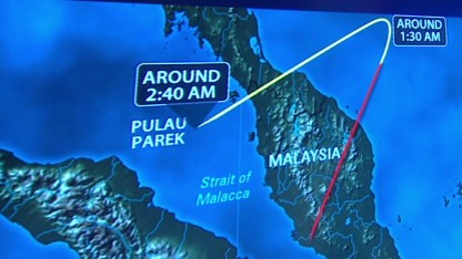 Did missing Flight 370 go off course?