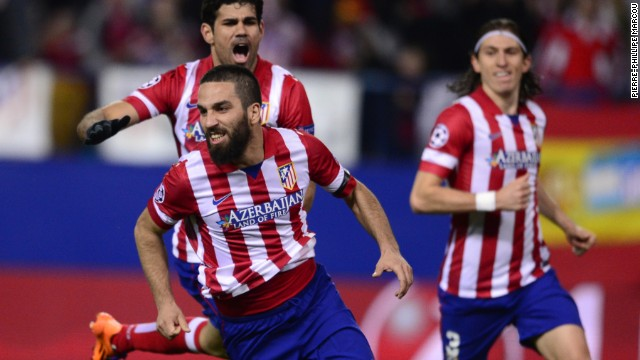 Arda Turan fired Atletico back in front with five minutes of the first half remaining to make it 2-1 on the night and 3-1 on aggregate.
