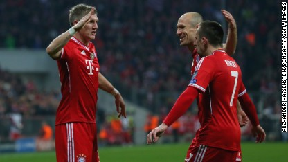 Football: Bayern and Atletico through