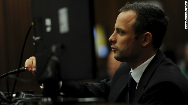 Oscar Pistorius listens to questions during his trial in Pretoria, South Africa, on Wednesday, March 12. Pistorius, the first amputee to compete in the Olympics, is accused of murdering his girlfriend, Reeva Steenkamp, on February 14, 2013.