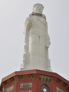 At a total height of 100 meters, the <a href='http://abandonedkansai.com/2012/09/24/world-peace-giant-kannon/' target='_blank'>World Peace Giant Kannon</a>, or Awaji Kannon, is one of the tallest statues in the world. Located on Awaji Island, in Japan's Hyogo Prefecture, it closed in 2006 following the death of its owner. Though put to auction several times since, Seidel says there were no takers.