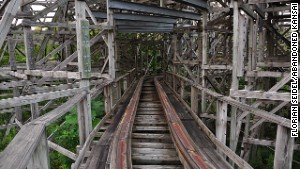 Urban exploration can be risky. There\'s no way to tell if abandoned structures, like this coaster at Nara Dreamland, are architecturally sound.