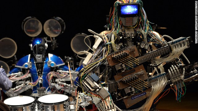 "Meet ""Z-Machines,"" the three piece robot band bringing a whole new meaning to electronic music."
