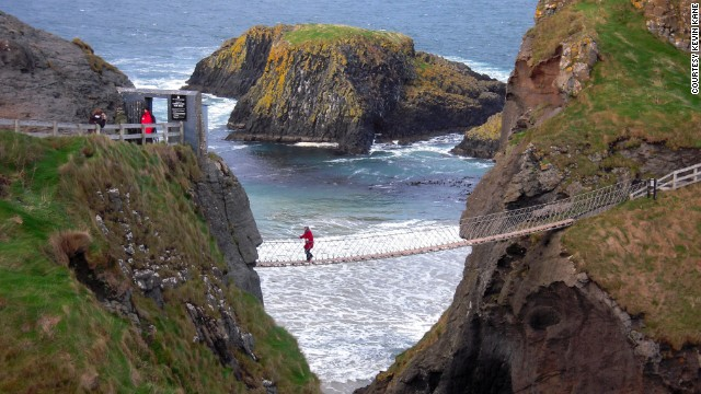 <strong>County Antrim: </strong>Carrick-A-Rede Rope Bridge near Ballintoy on the Antrim Coast. Some of the most beautiful areas of Ireland are in the North, <a href='http://ireport.cnn.com/docs/DOC-1100483'>Kevin Kane</a> said.<strong> </strong>