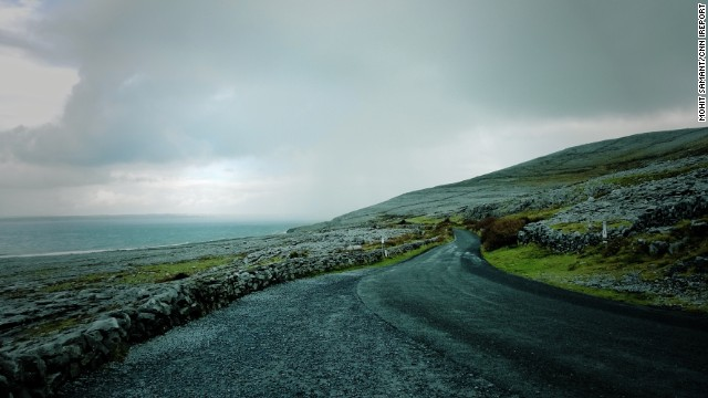 <strong>County Clare:</strong> Cruising down the Atlantic coast through the village of Doolin.