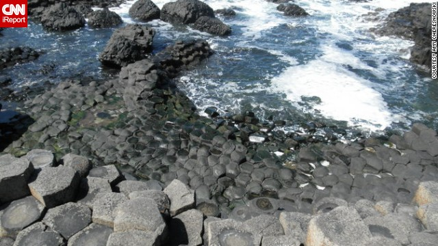 <strong>County Antrim:</strong> Giant's Causeway, on the northeast coast of Northern Ireland