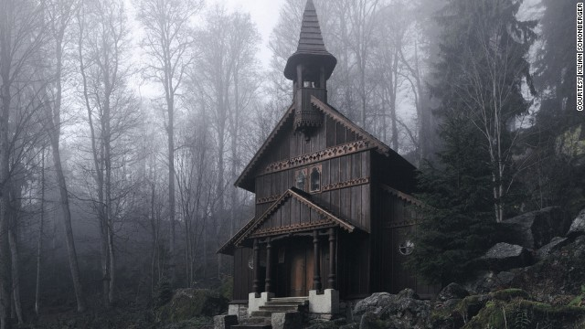 Forest Chapel, Bohmian Forest, Czech Republic.