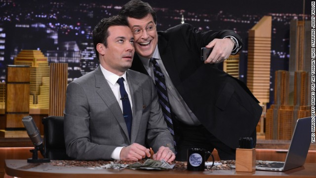 "Colbert faces a changed talk-show landscape. Jimmy Fallon, left, has gotten off to a fast start as new ""Tonight Show"" host on NBC, and ABC's Jimmy Kimmel also has a strong fan base. Observers are curious whether Colbert will bring his character with him to ""The Late Show."" We'll find out when David Letterman steps down."