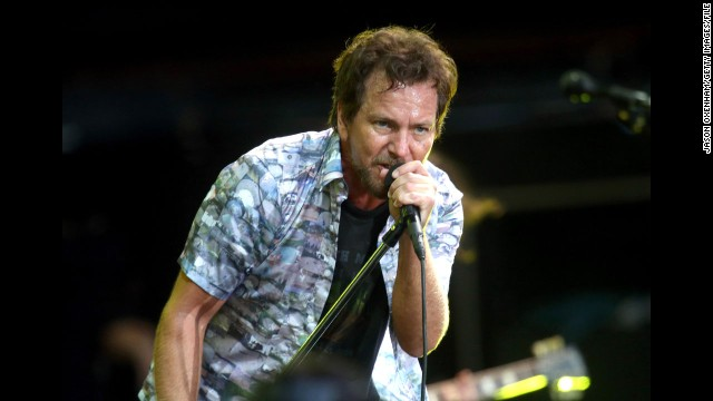 Eddie Vedder of Pearl Jam performs in Auckland, New Zealand, in January.