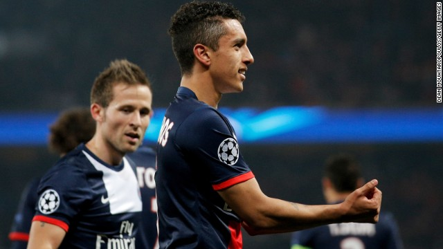 PSG leveled through Marquinhos on 13 minutes to restore their four-goal aggregate lead and tie the game up at 1-1. Ezequiel Lavezzi netted a winner for the home side in the second half.
