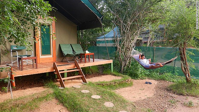 Slumming it at Kulu Safaris' campsite in the park's buffer zone of Kataragama. As a conservation measure, visitors aren't permitted to stay overnight in the park proper. This is as close as you can get.