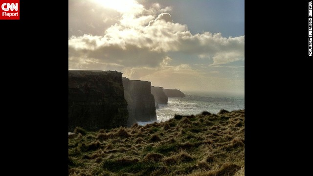 <strong>County Clare: </strong>The dramatic<strong> </strong>Cliffs of Moher. Click on the double arrows below to see more.