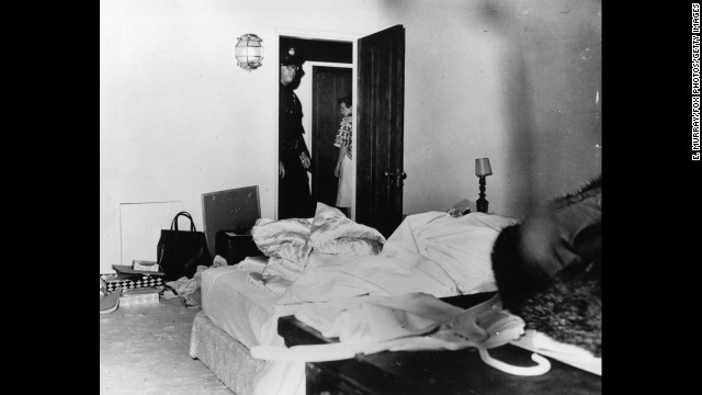 "The Los Angeles County coroner ruled that actress Marilyn Monroe's death in this room was a ""probable suicide"" from an overdose of barbiturates. Despite the official conclusion, questions have lingered for decades about Monroe's death in August 1962 at the age of 36."