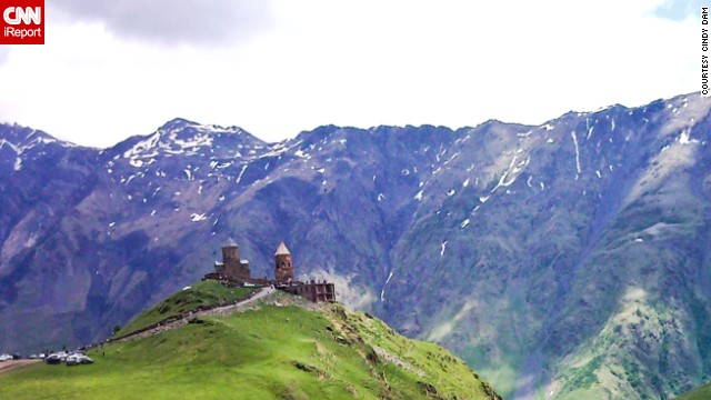 Still known as Kazbegi, this quiet mountain town is home to dramatic scenery from the snow-capped Caucasus Mountains to the green valleys.