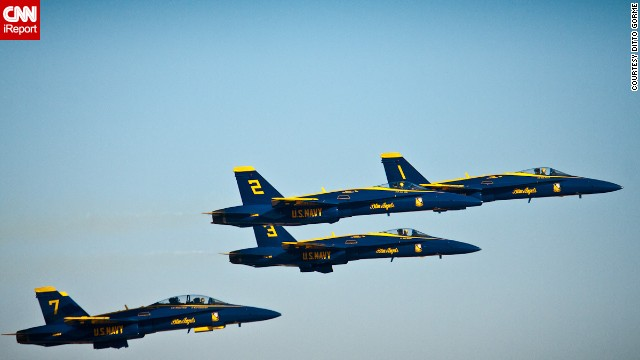 Alabama dad Ditto Gorme visited the Naval Air Station in Pensacola to photograph the Blue Angels practicing in March 2013, shortly before the team was grounded.