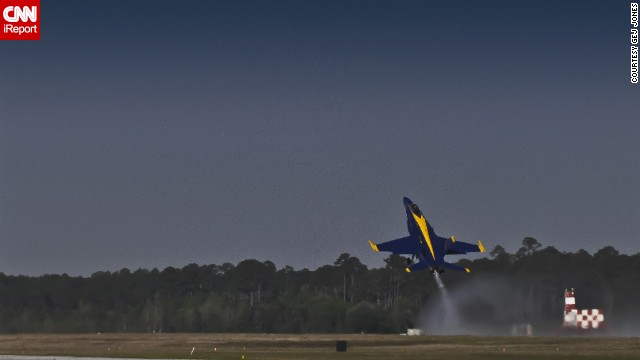 Retired teacher Gej Jones has seen the Blue Angels fly several times.