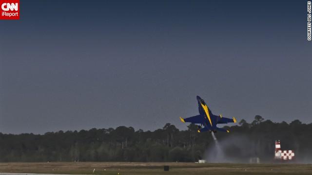 Retired teacher <a href='http://ireport.cnn.com/docs/DOC-948706'>Gej Jones</a> has seen the Blue Angels fly several times.