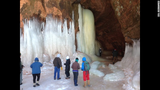 Visitors from all over the world have visited Lakeshore to see the giant frozen waterfalls that have formed this winter.