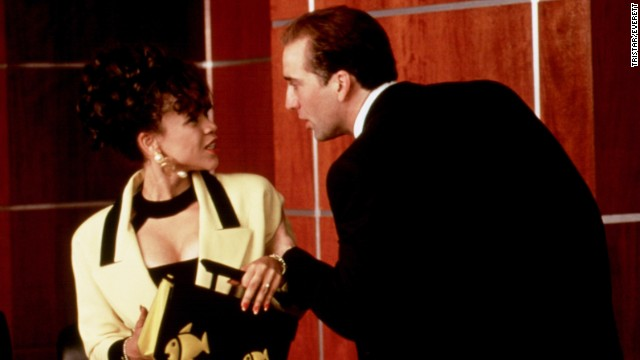 "Rosie Perez and Nicolas Cage played a feuding married couple in ""It Could Happen to You,"" a part she almost didn't get because director Andy Bergman thought she was too nice for the role. ""He couldn't see me as an annoying bitch,"" Perez wrote."